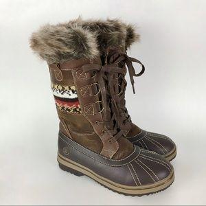 Northside Bishop Brown Winter Snow Boots Size 8